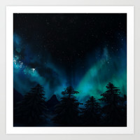 Stary Night  Art Print by North Star Artwork