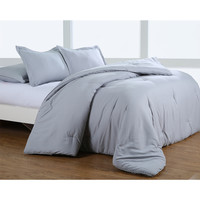 Silver Grey Greek Key Embossed Microfiber Plush Comforter Set | Overstock.com Shopping - The Best Deals on Comforter Sets