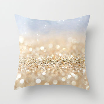 Glitter Me Throw Pillow by Pink Berry Pattern