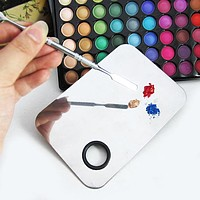 Beauty Stainless Cosmetic Makeup Nail Eye Shadow Mixing Palette Beauty Cosmetic Tool