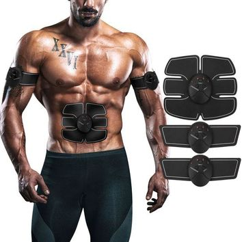 VONW3Q ITERY Muscle Toner, Abdominal workouts Fitness Portable AB Machine Abdominal Toning Belt EMS Training ABS Trainer Wirless Muscle Toning for Abdomen/Arm/Leg for Men or Women