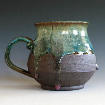 Large Coffee Mug Holds 26 oz handmade ceramic cup by ocpottery