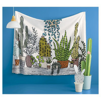 Bohemian Botanical Cotton Wall Bed Tapestry