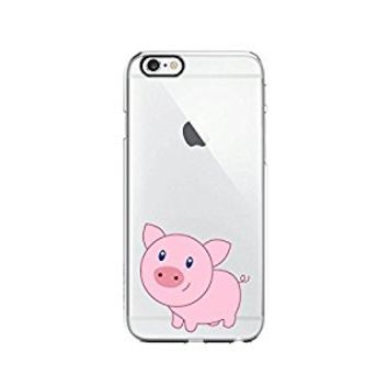 Cute Pink Pig Transparent Silicone Plastic Phone Case for iphone 7PLUS _ LOKIshop (iphone 7 plus)