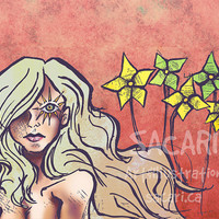 Look for the girl with the sun in her eyes 8x10 Matte by sacari