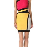 Herve Leger Colorblock Sheath Dress | SHOPBOP