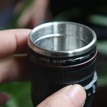Mini Camera Lens Wine Glass Mug
