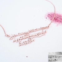 30% OFF ** Custom Handwriting Necklace - Signature Jewelry - Memorial Gift - Personalized Keepsake Gift - Meaningful Gift - Mother Gifts