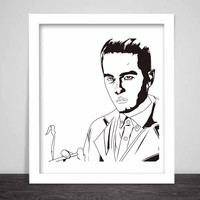G-Eazy Art Poster (3 sizes) 2 // Geazy Young Gerald I mean it Tumblr Girls When its dark out