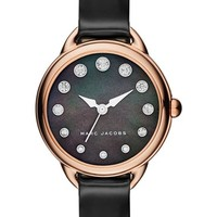 MARC JACOBS Betty Leather Strap Watch, 28mm | Nordstrom