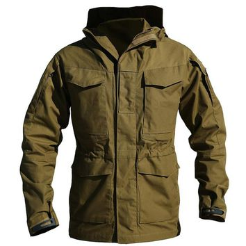 Army Clothes Tactical jacket Windbreaker Men bomber jacket Thermal Flight Pilot Coat Male Hoodie Military Field Jacket Coat