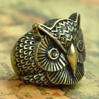Owl Head Ring on Luulla
