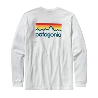 Patagonia Men's Long-Sleeved Line Logo Cotton T-Shirt