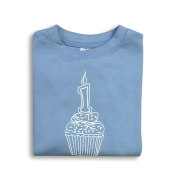 1st Birthday Blue Long Sleeve Tee