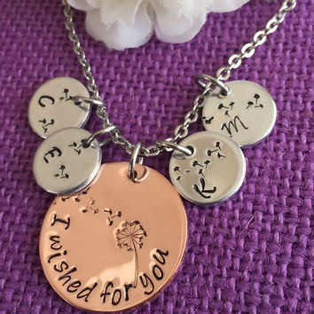 Mom Necklace - Mother's Day Gift - Personalized Mom Necklace Dandelion Wish Necklace, Kids Necklace - Family Jewelry - Gift for Mom - Mom