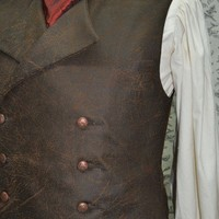 Mens Vest-- Victorian--Steampunk-- Sweeney Todd--Made To Order--Custom Optional---Made to Personal Measurements