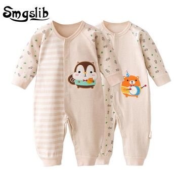 Newborn baby clothes cheap long-sleeve Baby Girl boy Clothes 6 9 12 18 Months Cute cotton Infant Jumpsuit baby christmas romper