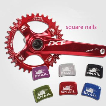 SNAIL Mountain Bike Bicycle Square Plate Nails  Disc Aluminum Alloy Colorful Block Snag Crank Screws Chainring Bolts
