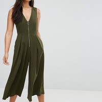 ASOS Jumpsuit with Ring Pull Detail at asos.com
