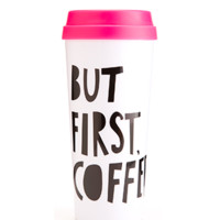 "Hot Stuff Thermal Mug - ""Blah Blah"", ""But First Coffee"" or ""Gems"""