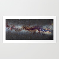 The Milky Way from Scorpio Antares and Sagitarius to North America Nebula in Cygnus Art Print by Guido Montañés