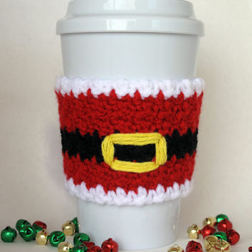 Crochet Santa Claus Coffee Cup Cozy