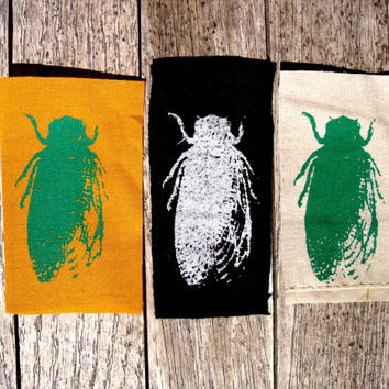 Little Cicadas Sing Patch- mini small insect nature vintage diagram illustration biology bug creepy critters