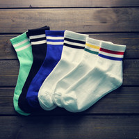 Winter Warm Cozy Comfortable Striped Socks