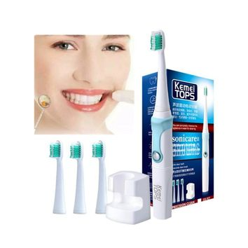 Fashion Battery Operated Electric Toothbrush with 3 Brush Heads Oral Hygiene Health Products Rechargeable Tooth Brush