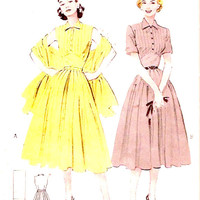 1950s Rockabilly Dress stole sewing pattern Mid century grad teen bridesmaid fashion Butterick 6433 Bust 30 Small
