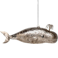 Fancy Whale Ornament