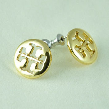 Tiny Tory Burch Inspired Earrings