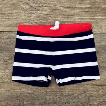 2018 Boys Stripe Beach Shorts Swimming Trunks
