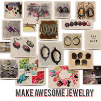 DIY junk jewelry parts altered art craft supplies lot box destash wholesale zne