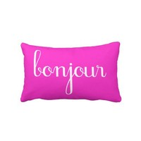 BONJOUR - French - Hello - Pillows from Zazzle.com