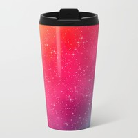 Colorful Galaxy Metal Travel Mug by Texnotropio
