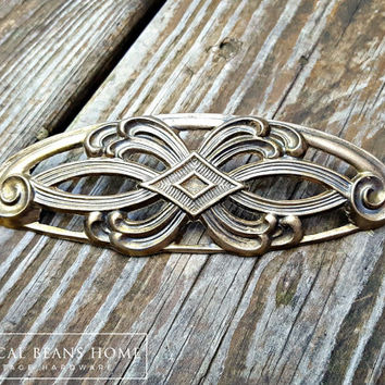 Art Deco Furniture Pulls Art Nouveau Kitchen Dining Cabinet Pulls Handles KBC Oval Vintage Drawer Pulls Brass Weaved Dresser Pulls