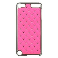 Dream Wireless Chrome Case for iPod touch 5 (Studded Diamond Hot Pink)