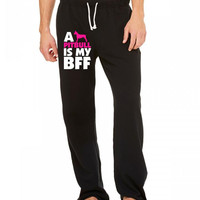 a pitbull is my bff t shirt design 1 Sweatpants