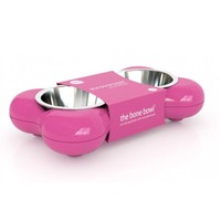 Hing Designs Bone Bowl - Pink Dog Bowls & Dishes