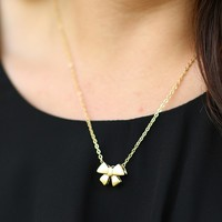 Bow-Tie Only Necklace in Gold