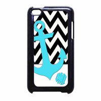 Chevron Anchor Personalized iPod Touch 4th Generation Case