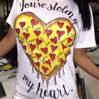 """You've stolen a 'pizza' my heart"" Women's T-Shirt"