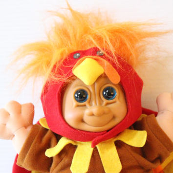 TROLL DOLL TURKEY Vintage Russ Berrie Collectible Toy