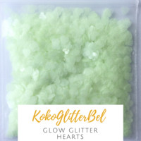 Glow in the Dark Glitter- Hearts