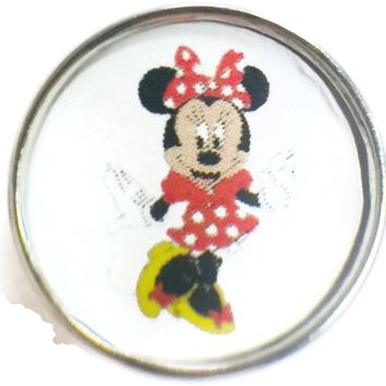 Disney Minnie Mouse 18MM - 20MM Fashion Snap Jewelry Snap Charm New Item
