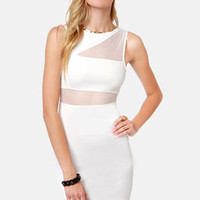 From See to See Cutout Ivory Dress