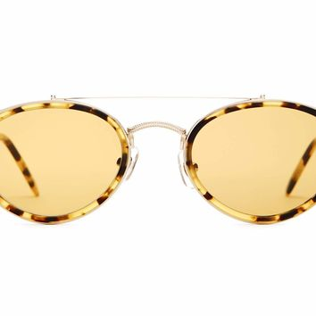 Crap Eyewear - Riddim Safari Brushed Gold + Tokyo Tortoise Sunglasses / Mustard Lenses