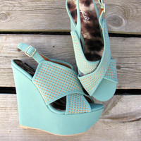 Collide Wedge {Mint}