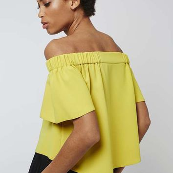 Structured Bardot Top - Tops - Clothing